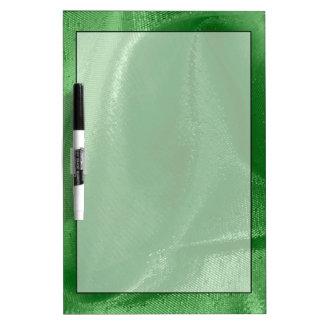 Crumpled Light Green Lame' Metallic Fabric Photo Dry-Erase Board