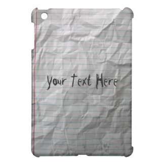 Crumpled Lined Paper Cover For The iPad Mini
