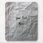 Crumpled Lined Paper Mouse Pad