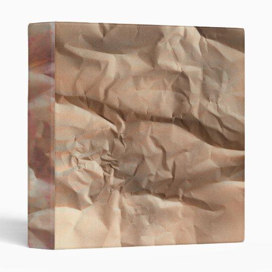 Crumpled Paper 3 Ring Binder