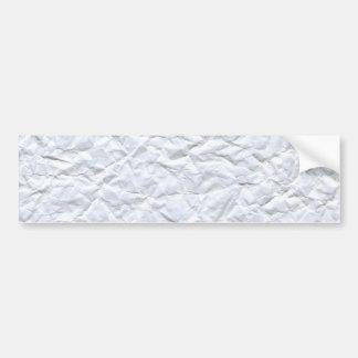 Crumpled Paper Bumper Sticker