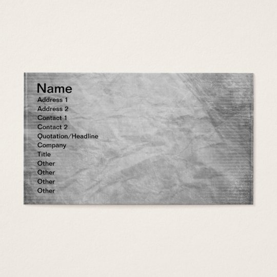 CRUMPLED PAPER SILVER GREY GRAYS WHITE DIGITAL TEM BUSINESS CARD