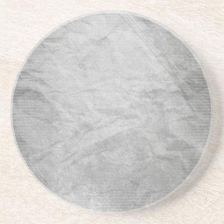 CRUMPLED PAPER SILVER GREY GRAYS WHITE DIGITAL TEM DRINK COASTER