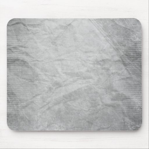 CRUMPLED PAPER SILVER GREY GRAYS WHITE DIGITAL TEM MOUSEPAD