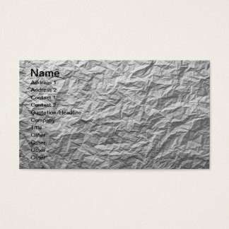 Crumpled Paper Texture For Background Business Card