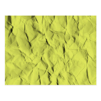 Crumpled Paper Texture Postcard