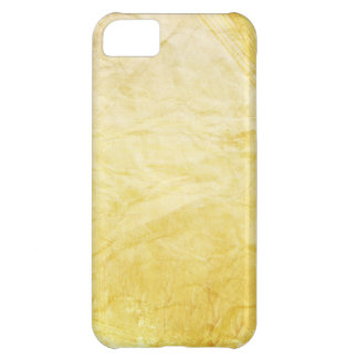 CRUMPLED PAPER YELLOWED CREAM DIGITAL TEMPLATE TEX COVER FOR iPhone 5C