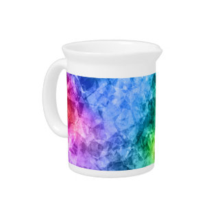 Crumpled Peacock Blue Texture Beverage Pitchers