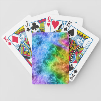 Crumpled Peacock Blue Texture Bicycle Playing Cards