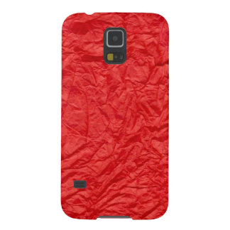 Crumpled Red Paper Case For Galaxy S5