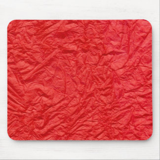 Crumpled Red Paper Mouse Pad