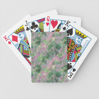 Crumpled Spring Green Texture Bicycle Playing Cards