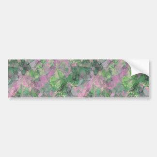 Crumpled Spring Green Texture Bumper Sticker