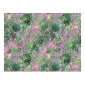 Crumpled Spring Green Texture Postcard