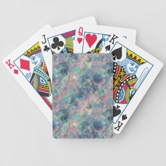 Crumpled Sunset Blue Texture Bicycle Playing Cards