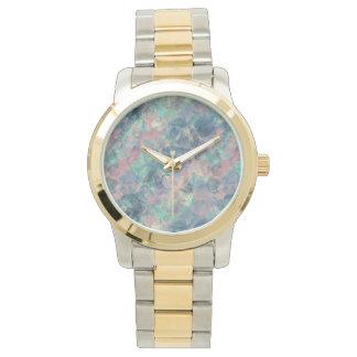 Crumpled Sunset Blue Texture Watch
