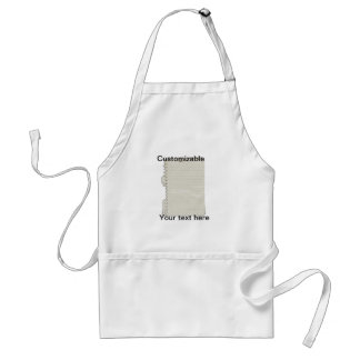 Crumpled Torn Out Notebook Paper Adult Apron