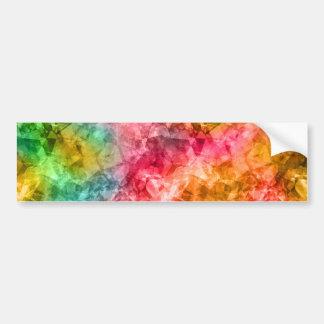 Crumpled Tropical Texture Bumper Sticker