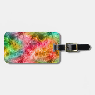 Crumpled Tropical Texture Tag For Luggage