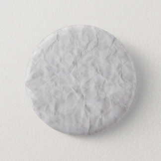 Crumpled White Paper Texture Button