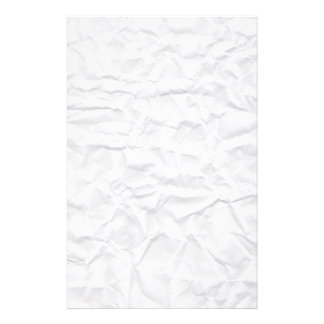 Crumpled white paper texture custom stationery