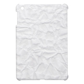 Crumpled white paper texture novelty iPad mini case