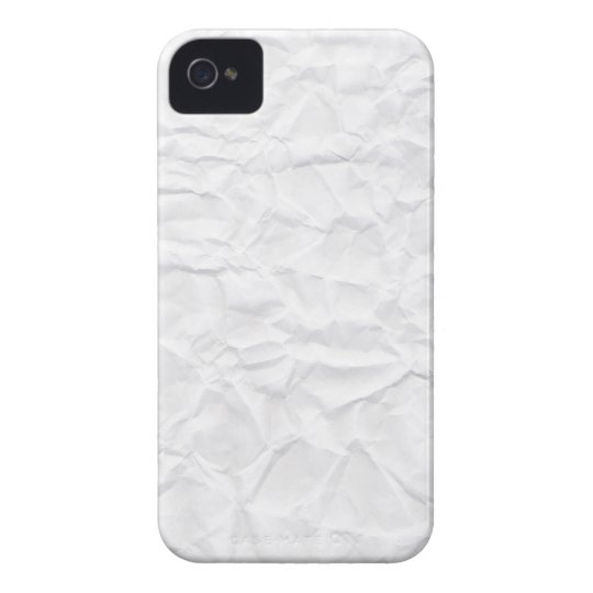 Crumpled white paper texture novelty iPhone 4 case