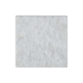 Crumpled White Paper Texture Stone Magnet