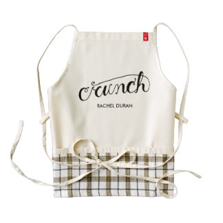 crunch calligraphy apron