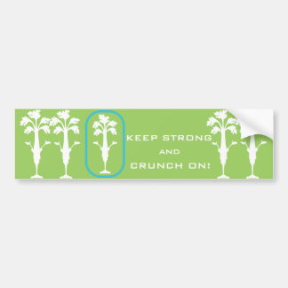 'Crunch On!' Green Bumper Sticker