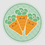 Crunchy Carrots Kawaii Stickers