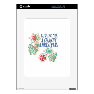 Crunchy Christmas Decal For The iPad