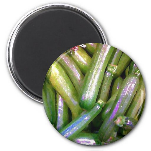 Crunchy Courgettes 2 Inch Round Magnet