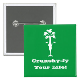 "'Crunchy-fy Your Life' 2"" Square Button"