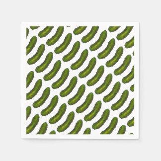 Crunchy Green Dill Pickle Sour Pickles Jewish Deli Paper Napkin