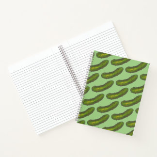 Crunchy Green Kosher Dill Pickle Foodie Food Print Notebook