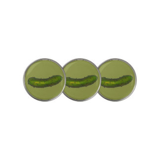 Crunchy Green Kosher Dill Pickle Print Foodie Golf Ball Marker