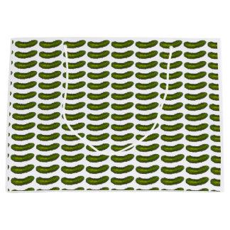 Crunchy Green Kosher Dill Pickle Sour Deli Pickles Large Gift Bag