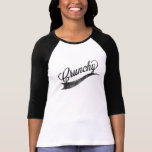 """""""Crunchy"""" Hipster Ladies Baseball Style Top T Shirt"""