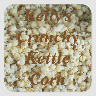 Crunchy Kettle Corn Food Label for Gifts
