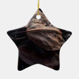 Crunchy Leaf Litter Ceramic Ornament