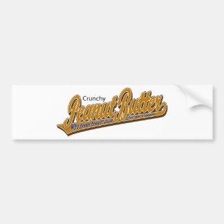 Crunchy Peanut Butter Car Bumper Sticker