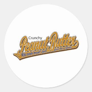 Crunchy Peanut Butter Classic Round Sticker