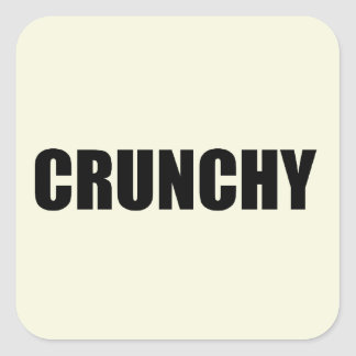 CRUNCHY Square Square Sticker