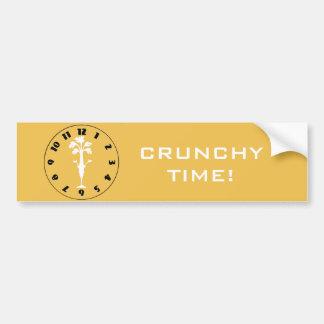'Crunchy Time' Bumper Sticker