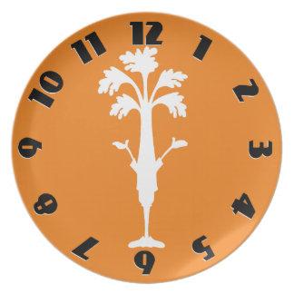 'Crunchy Time' Orange Melamine Round Plate