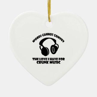 Crunk Music designs Ceramic Ornament