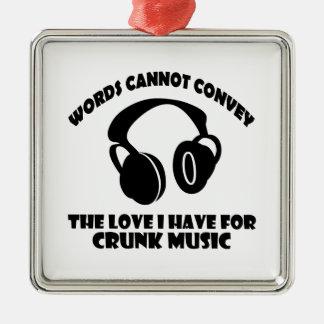 Crunk Music designs Metal Ornament