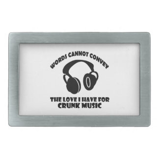 Crunk Music designs Rectangular Belt Buckle
