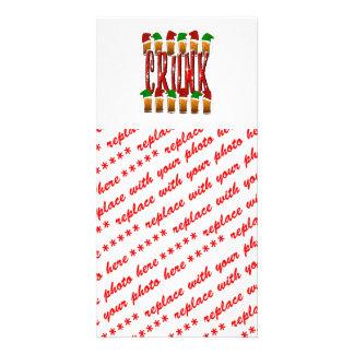 CRUNK - Navidad bebido loco Tarjeta Fotográfica
